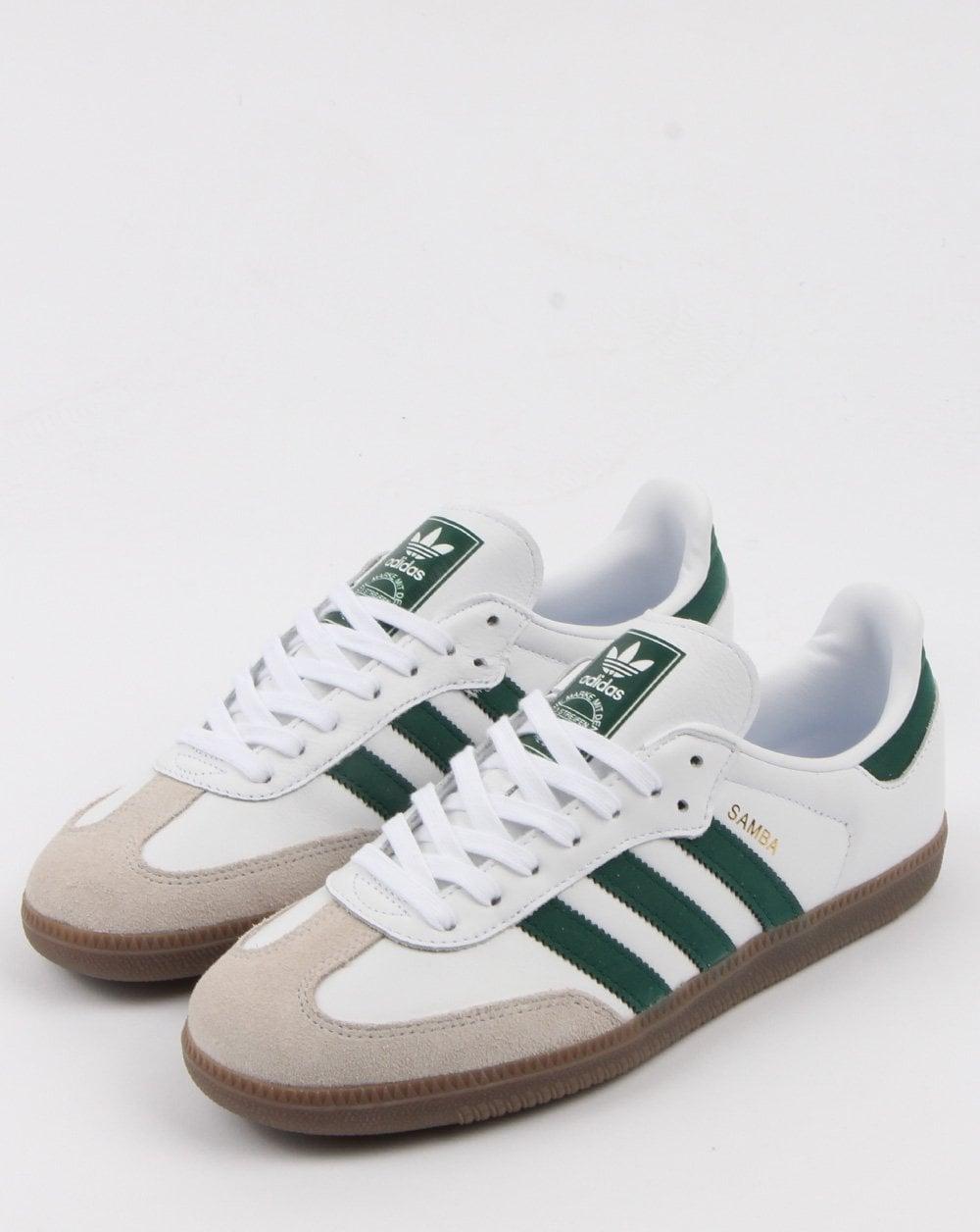d8bfedec9 Adidas Samba, Og Trainers,White/collegiate Green | 80s casual classics