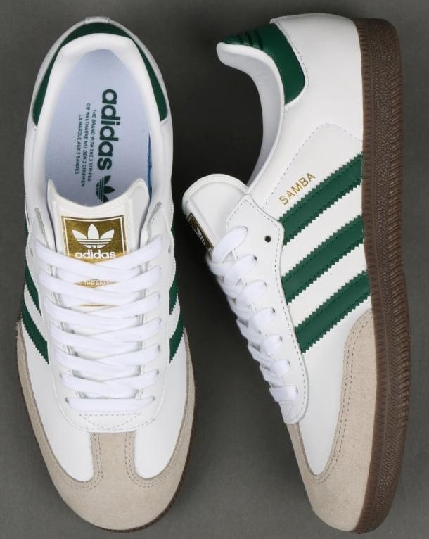 Adidas Samba OG Trainers White/Green