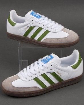 ADIDAS ORIGINAL VINTAGE Rare Black Green White Samba 85 Mens Trainers Size 8