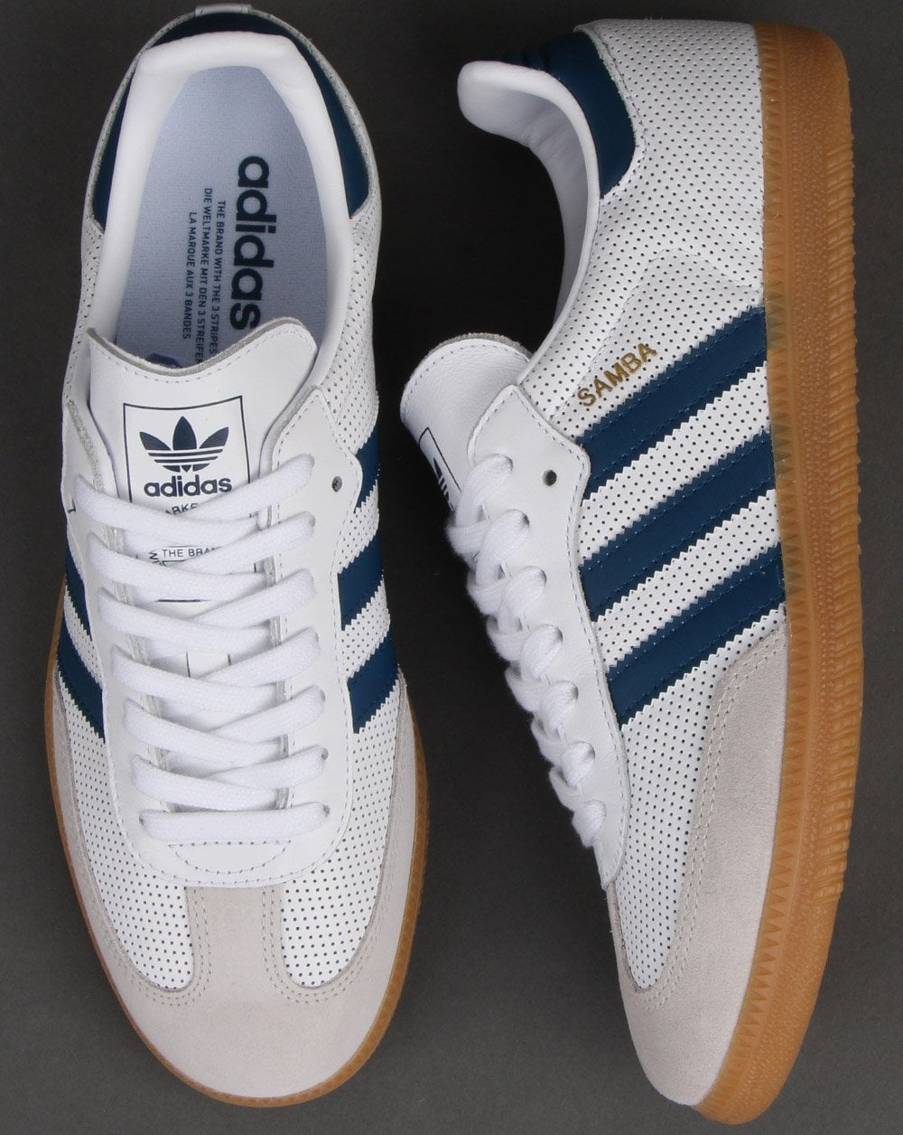 preview of arriving great prices Adidas Samba Og Trainers White/legend Marine