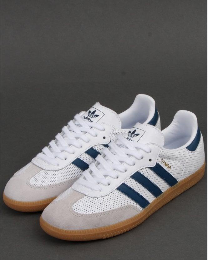 white adidas samba trainers