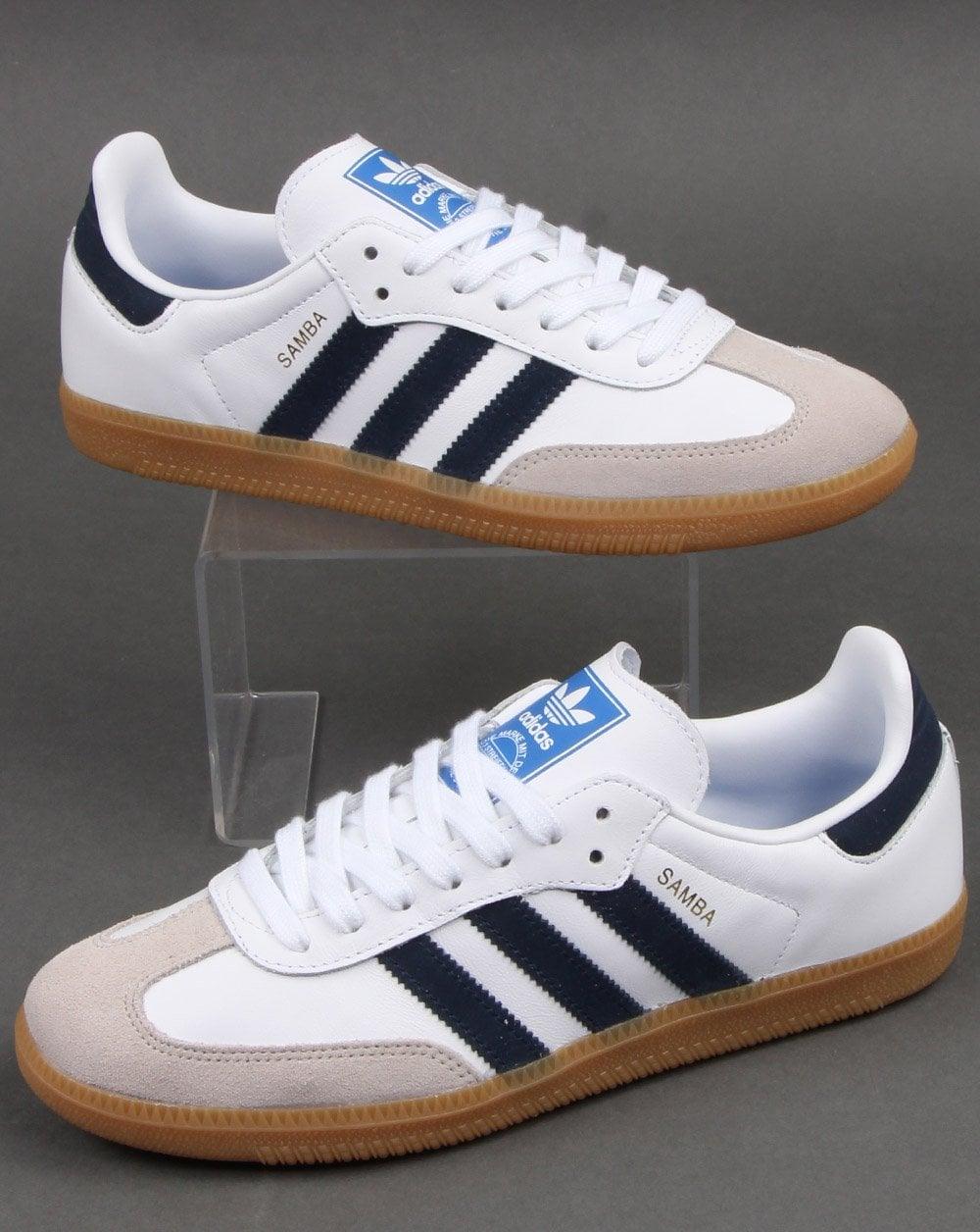 Adidas Samba Og Trainers White/Navy