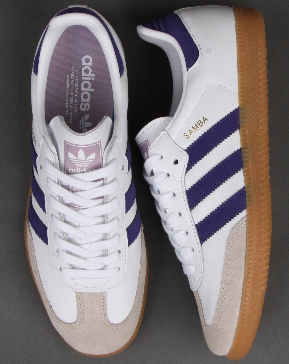Adidas Samba Og Trainers White/Purple