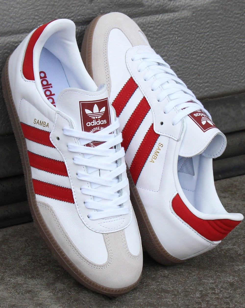 adidas Trainers Adidas Samba OG Trainers White Red 5febc569a