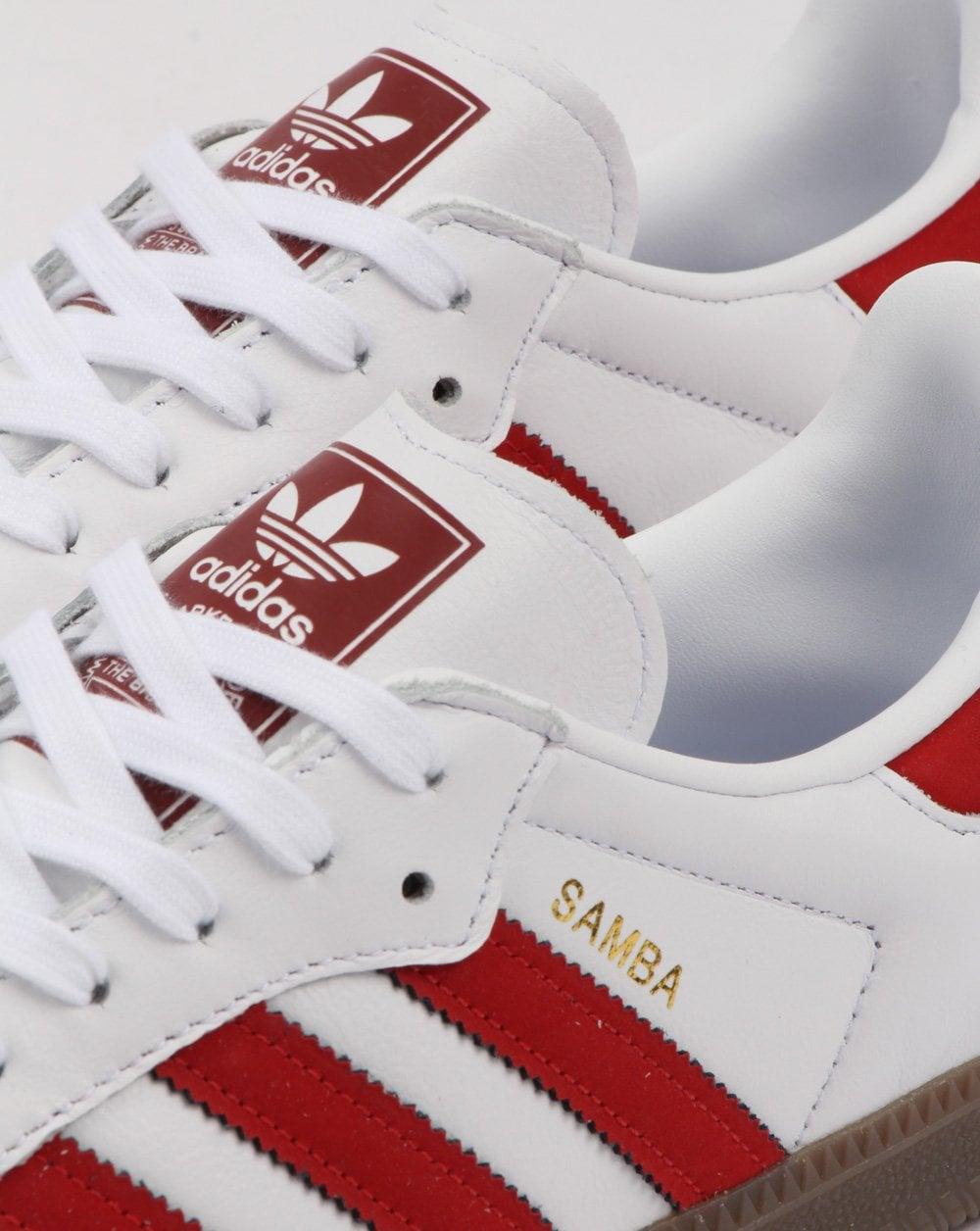 adidas samba trainers white