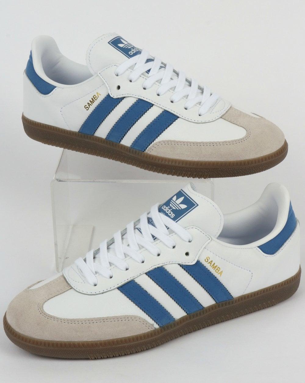 Adidas Samba OG Trainers WhiteRoyal