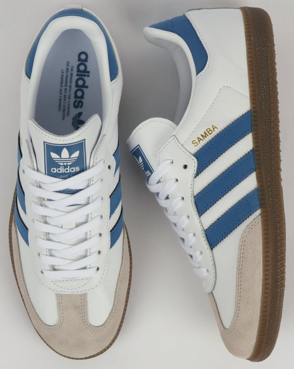 adidas samba blue and white Online