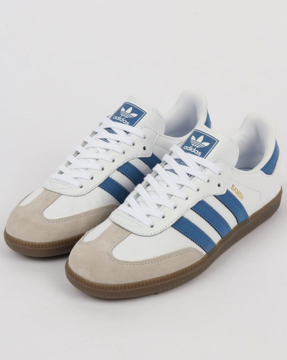Adidas Samba OG Trainers White/Royal