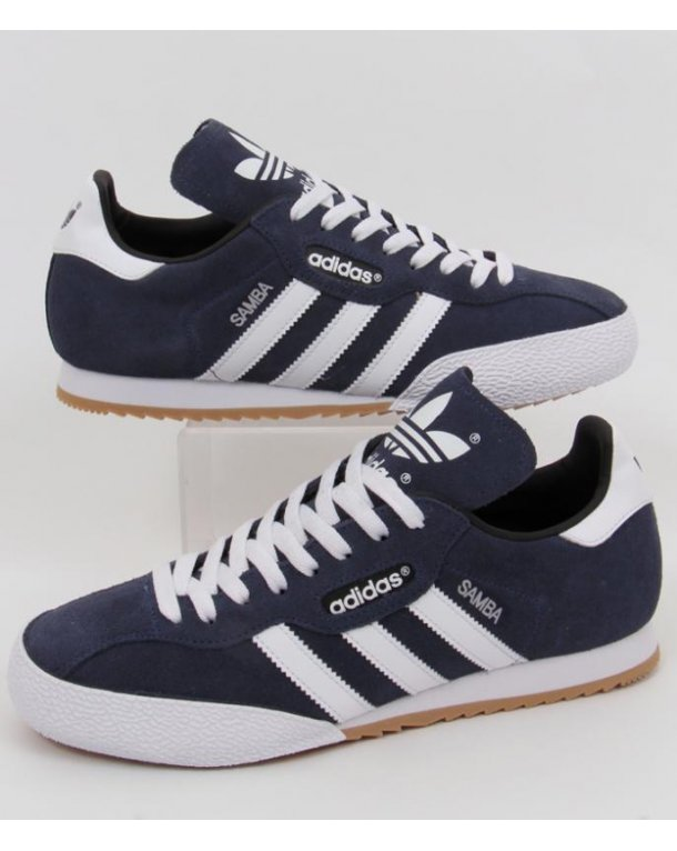 Adidas Samba Super Suede Trainers Navy/white
