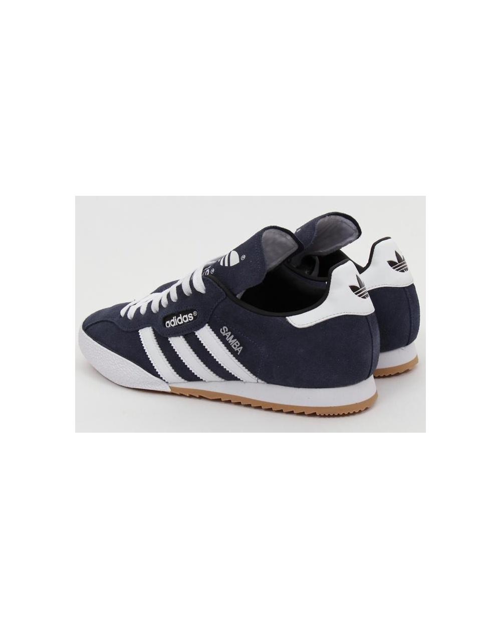 79100f474b5 Adidas Samba Super Suede Trainers Navy white - Adidas samba super ...