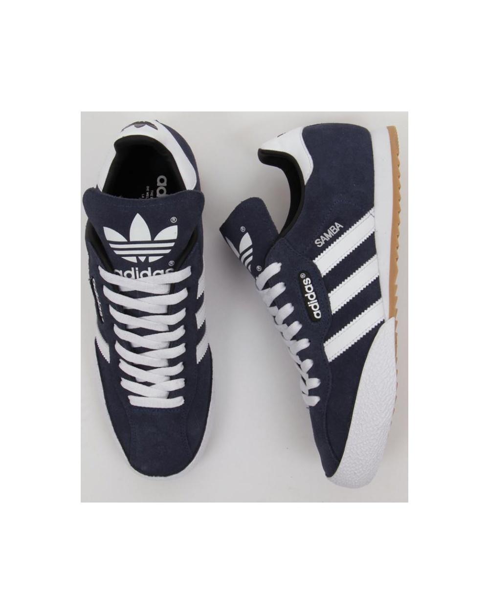 mens adidas originals samba super blue trainers