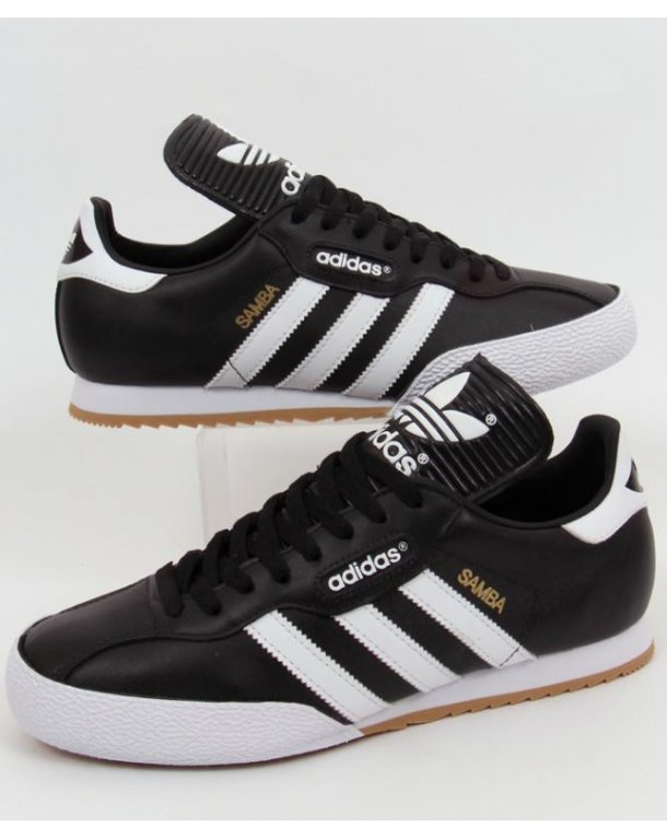 black and white adidas trainers