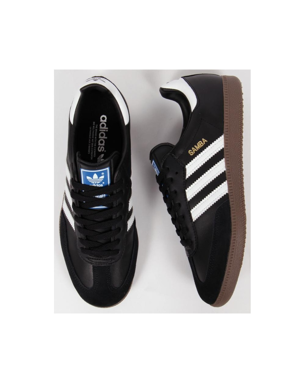 adidas black and white samba
