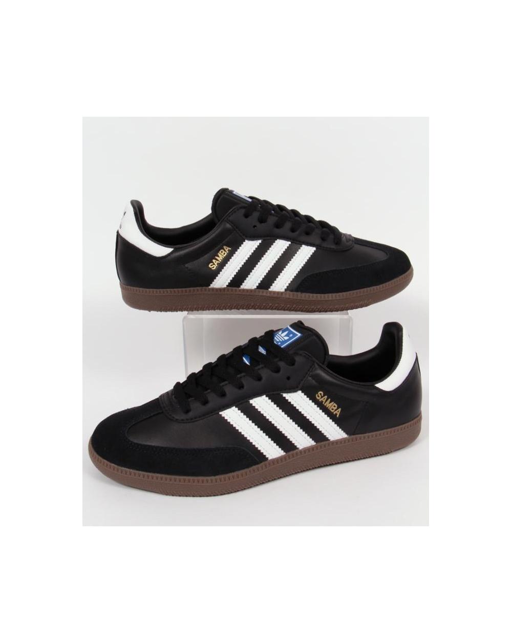 black adidas samba trainers