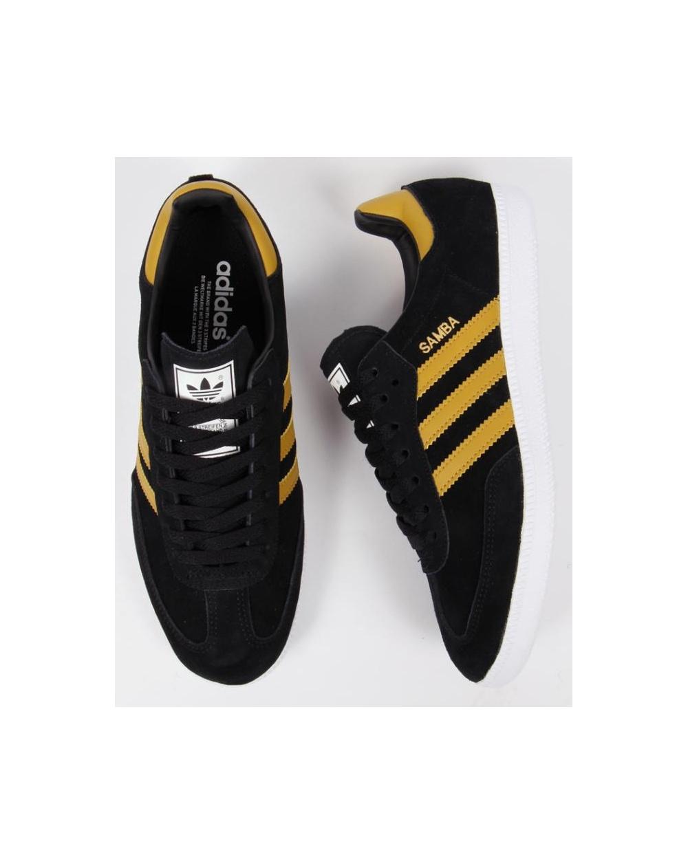 b7f8cc4b5 cheapest adidas samba trainers black yellow 3c760 949e2