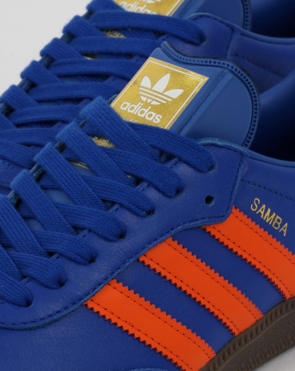 86a1a6de63cf7d ... where to buy adidas samba trainers bold blue orange 8a563 601dc