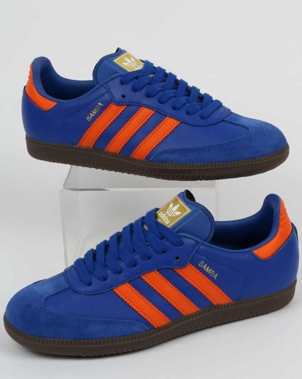 Adidas Samba Trainers Blue/OrangeDublinleathershoesOG ...
