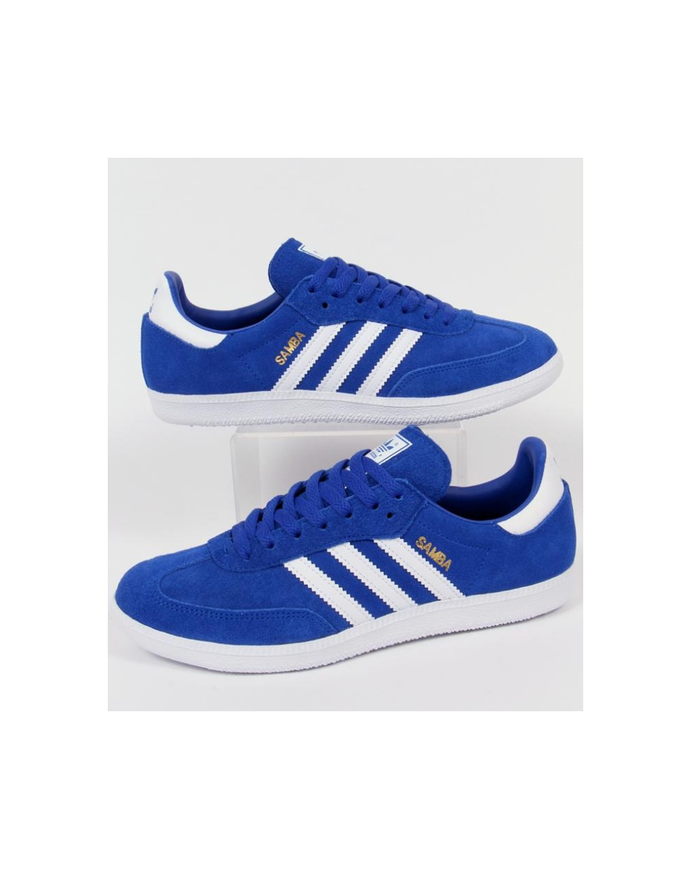 arriving wholesale online wide varieties Adidas Samba Trainers Bold Blue/White