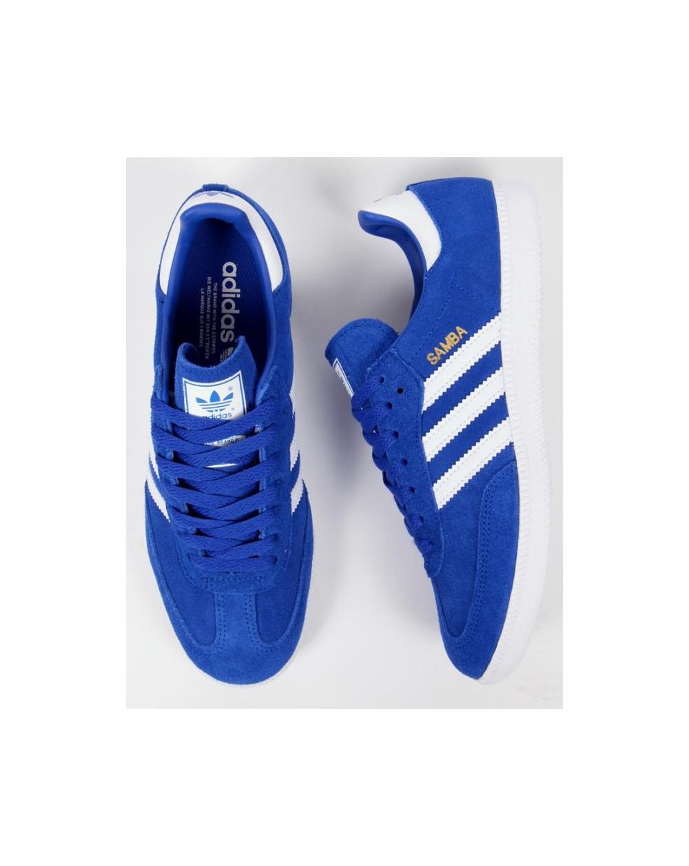 adidas samba trainers bold bluewhite