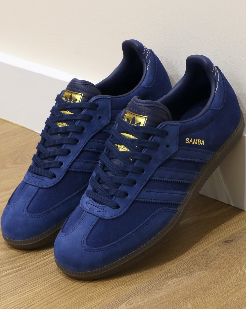 Adidas Samba Trainers Dark Blue