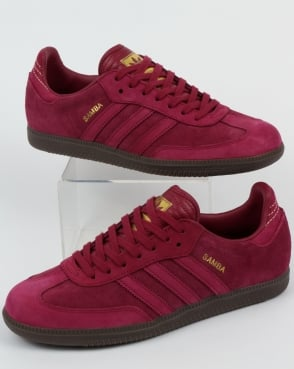 adidas gazelle claret and amber trainers