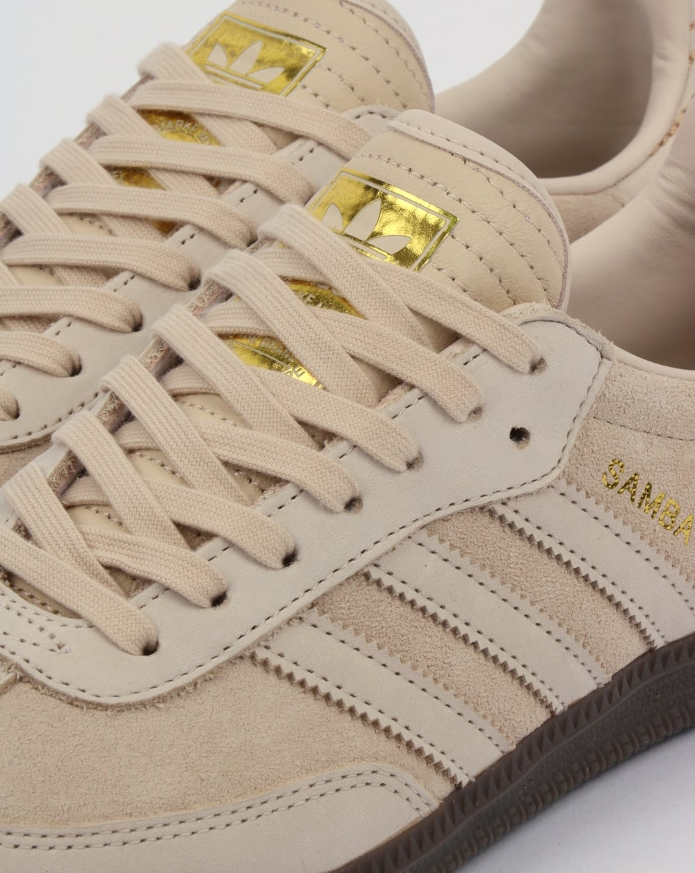 Adidas Samba Trainers white,linen,suede