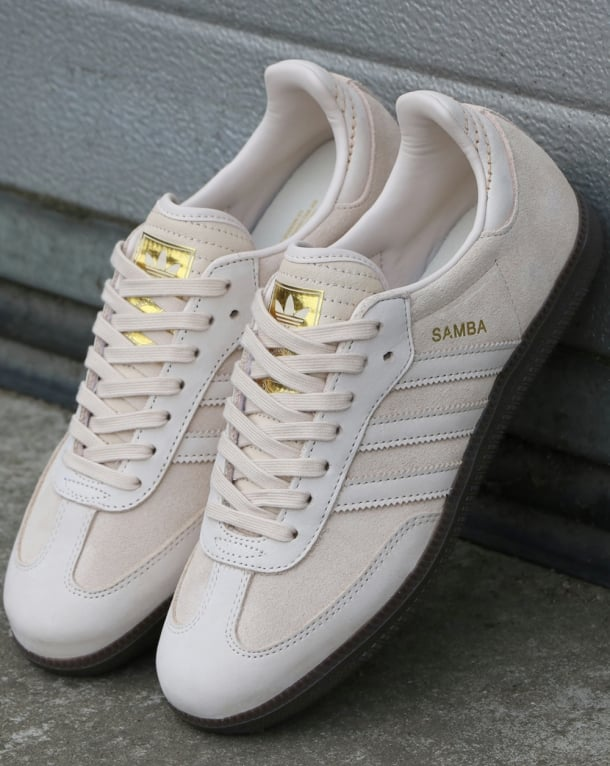 Adidas Samba Trainers Vintage Stone