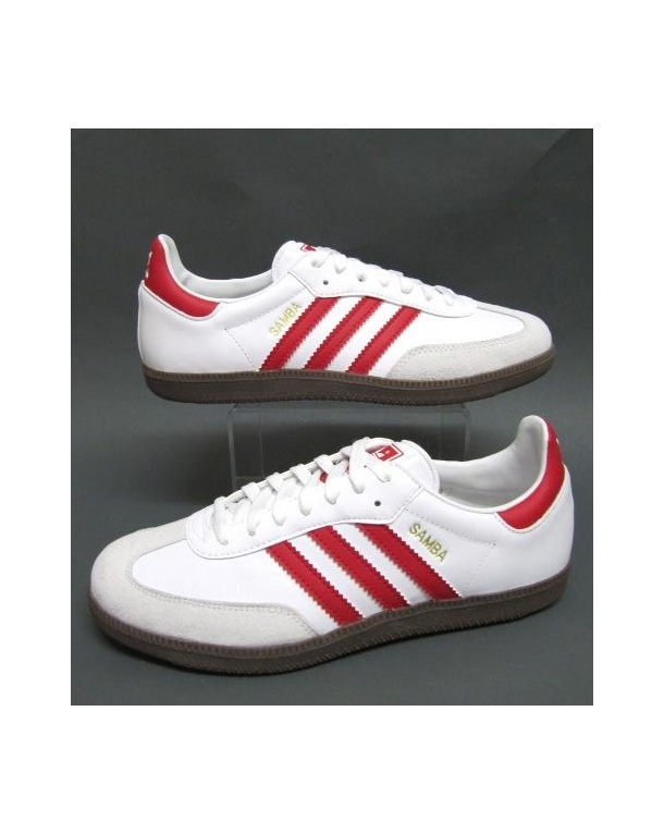 red adidas samba trainers
