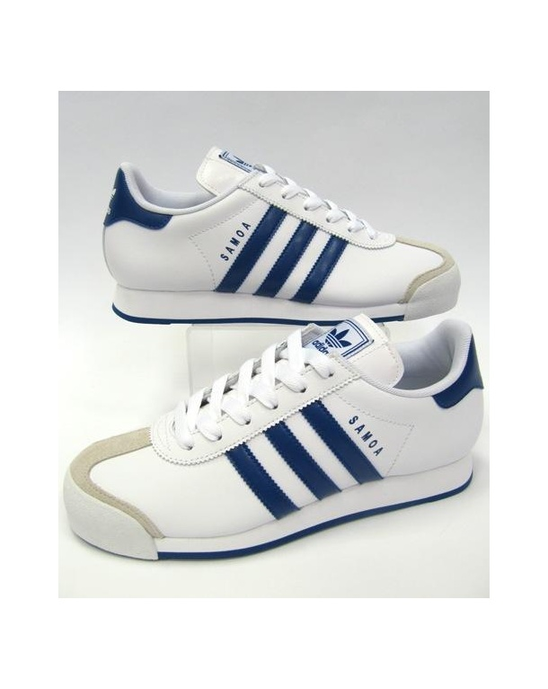 Adidas Samoa Trainers White/Royal Blue