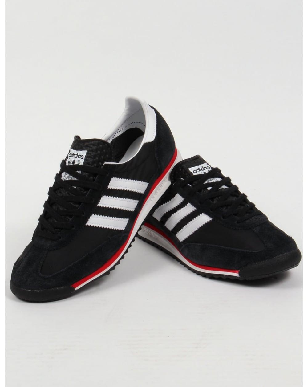 Adidas Sl 72 Trainers Black/white/red,originals,shoes ...