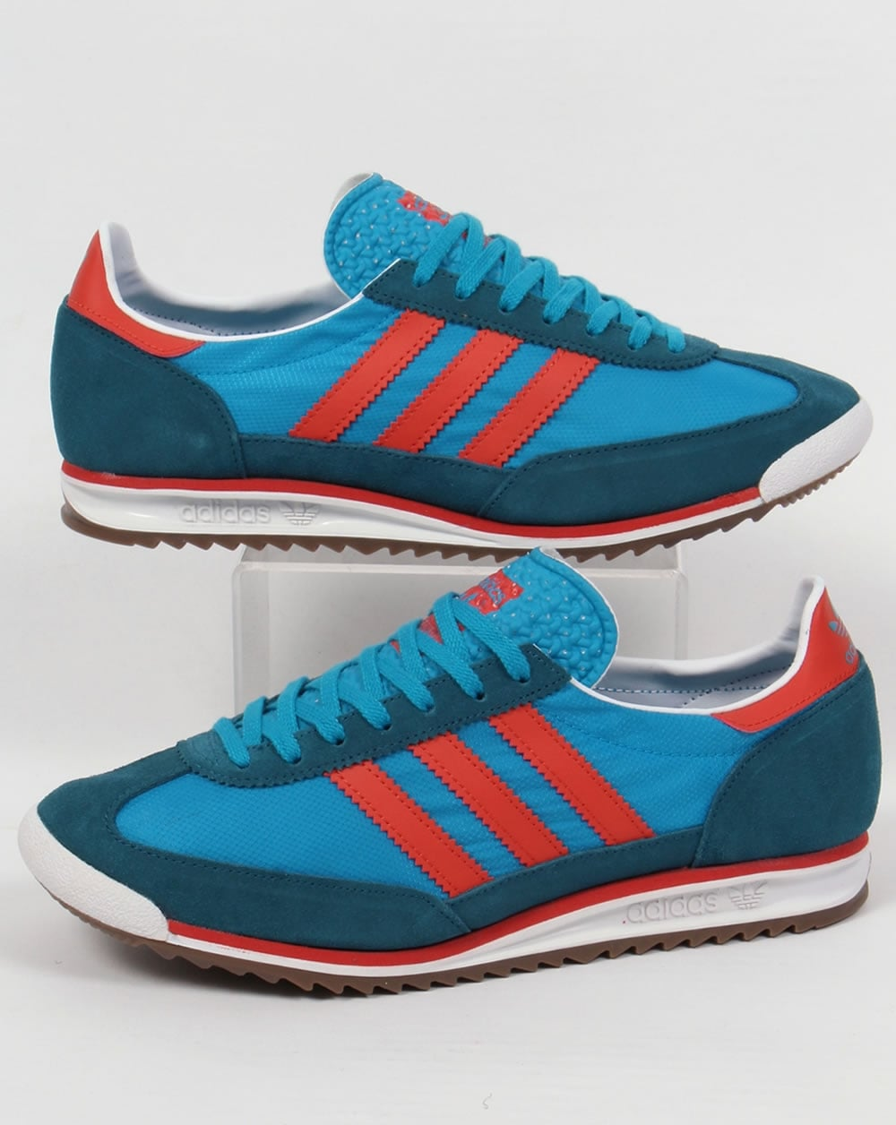 new product aae69 f5461 adidas Trainers Adidas SL 72 Trainers Bold Aqua surf Red