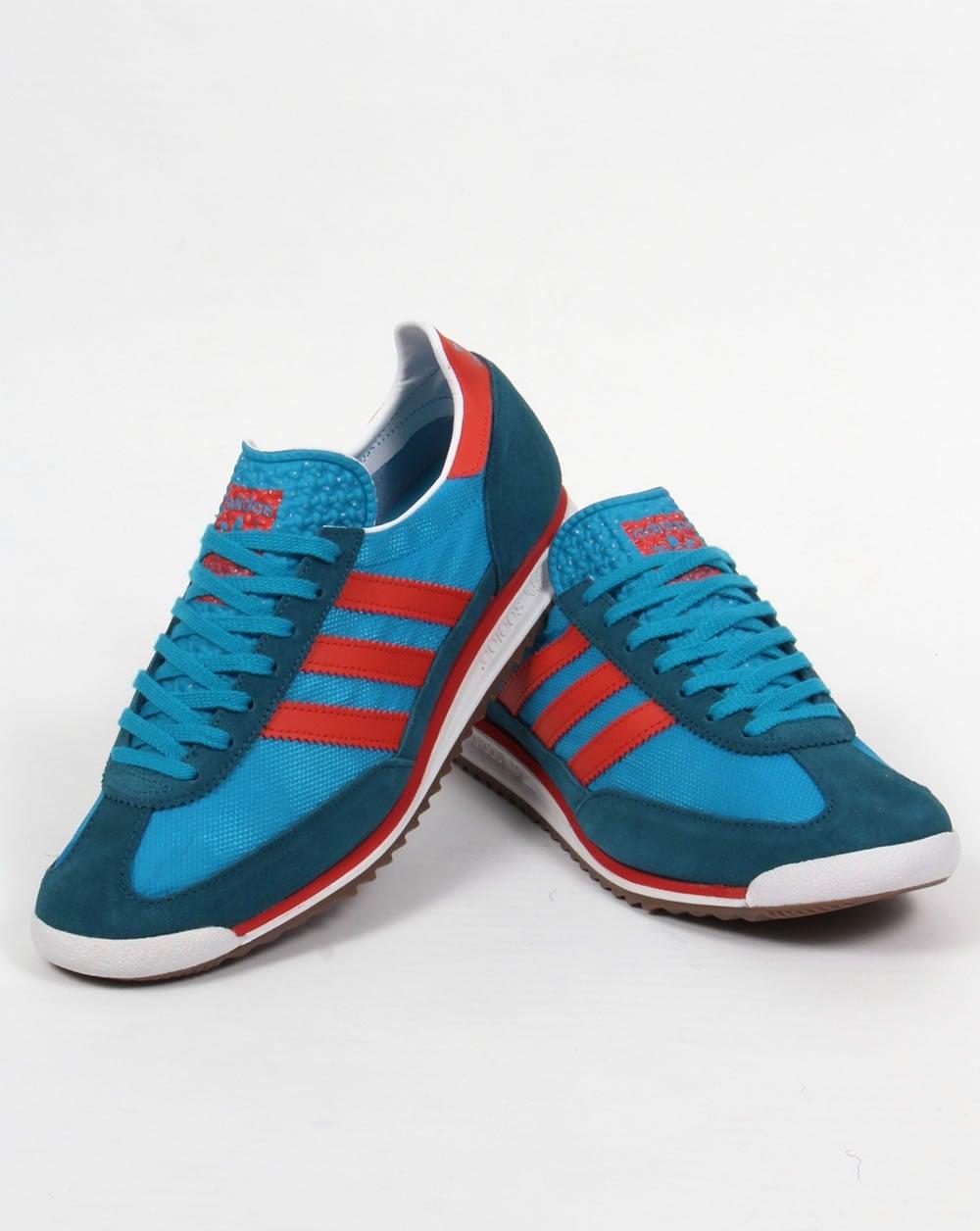 sale retailer d6133 4b3af Adidas SL 72 Trainers Bold Aqua surf Red