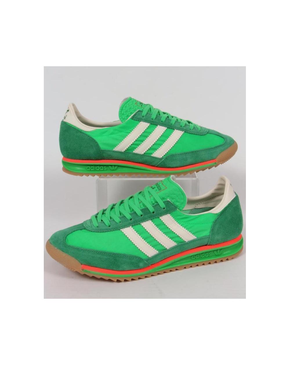 sale retailer 1bca3 fbe18 adidas Trainers Adidas SL 72 Trainers Flash Green White