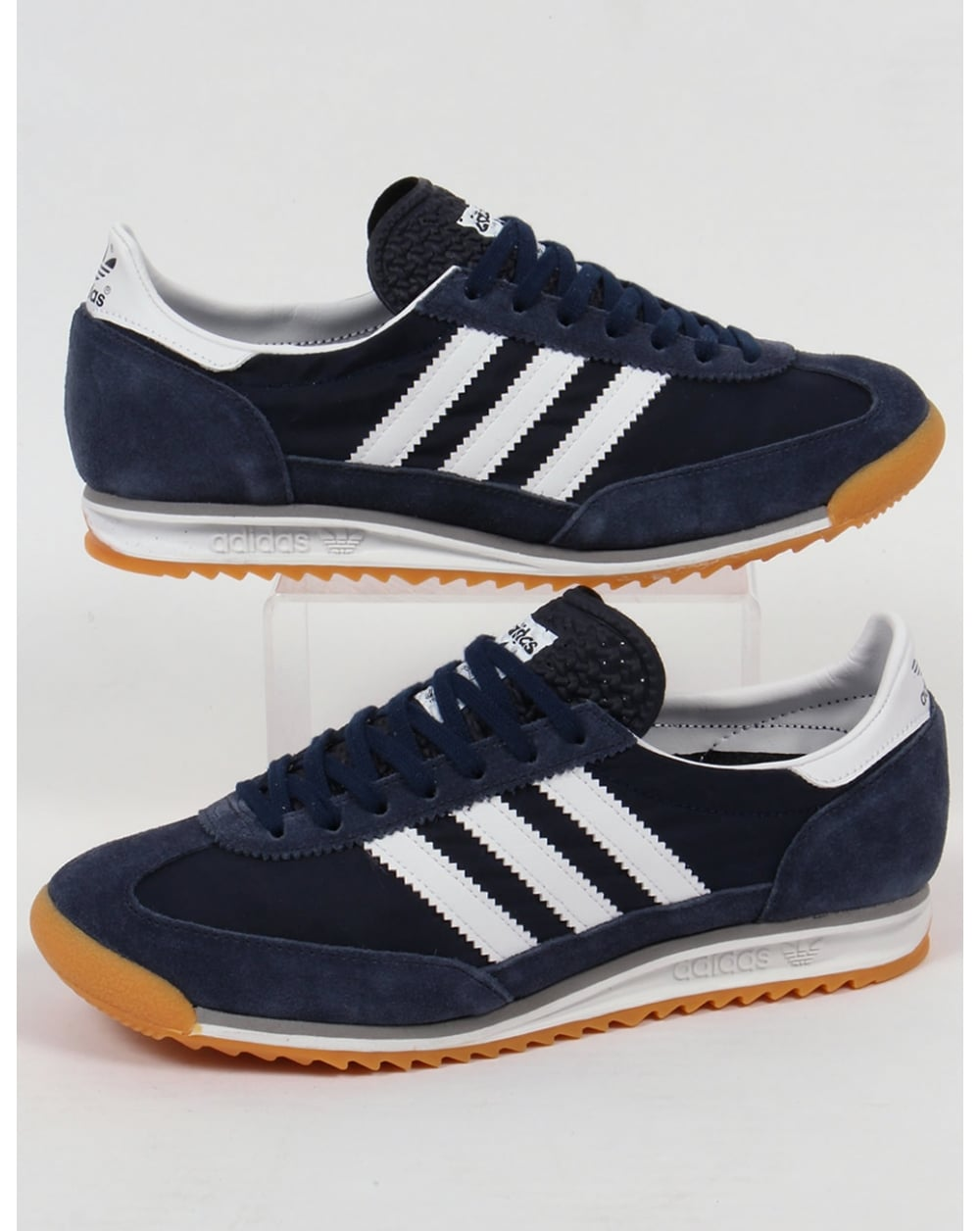 adidas sl 72 trainers navy white originals shoes sneakers. Black Bedroom Furniture Sets. Home Design Ideas