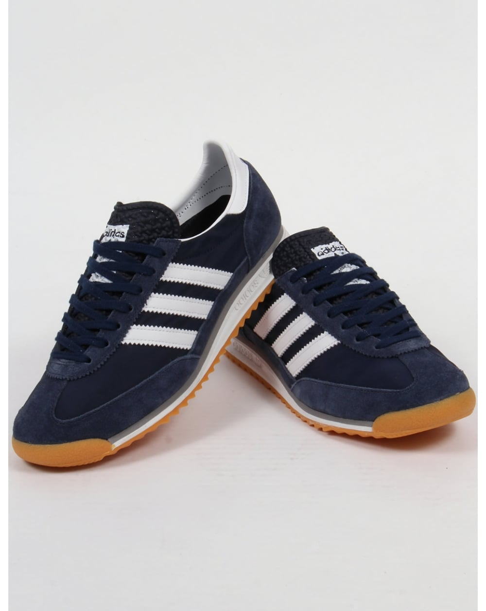 Adidas Sl 72 Trainers Navy White Originals Shoes Sneakers Runner