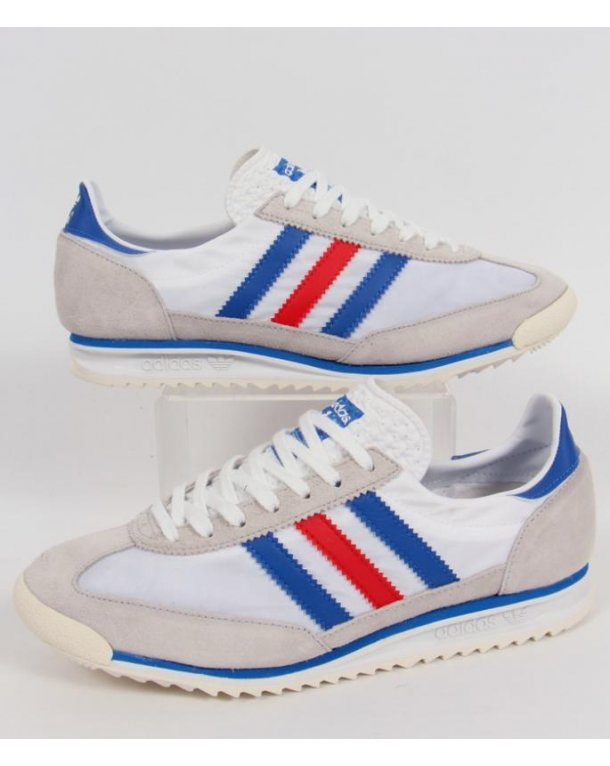 adidas originals sl 72 trainers white blue red adidas. Black Bedroom Furniture Sets. Home Design Ideas