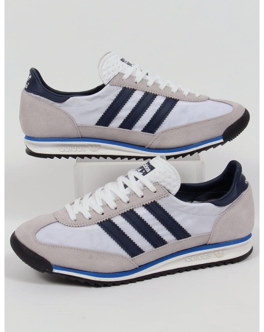100% Calidad mejor sitio web nuevo estilo Adidas Sl 72 Trainers White/navy/royal,originals,shoes,sneakers,runner