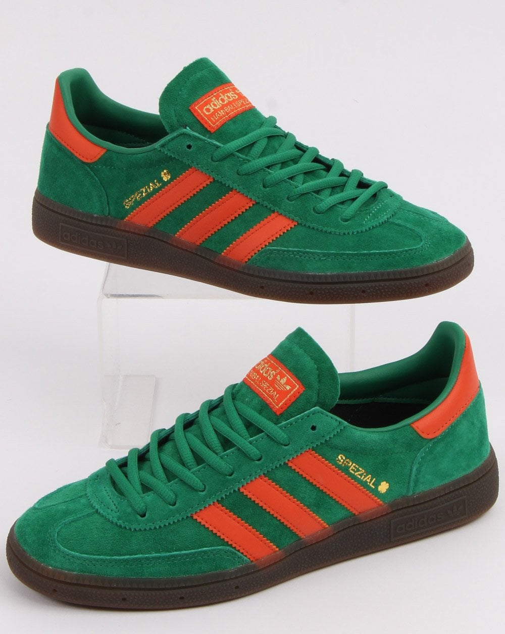 great prices best sneakers low cost Adidas Spezial Trainers Bold Green/ Orange