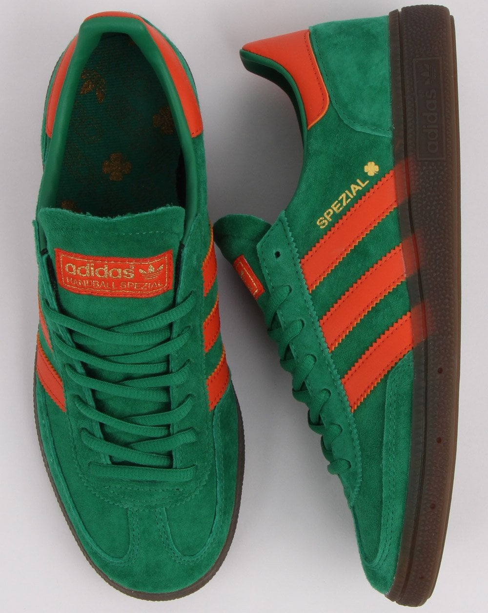 45749b4c2 Adidas Handball Spezial Trainers Green, Orange | 80s casual classics