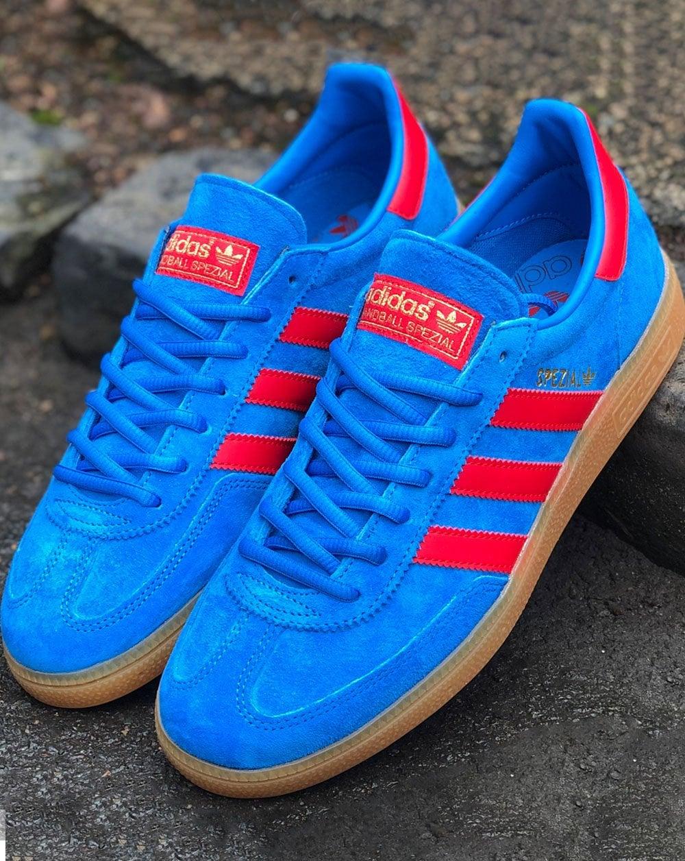 Adidas Spezial Trainers Bright Blue/Vivid Red