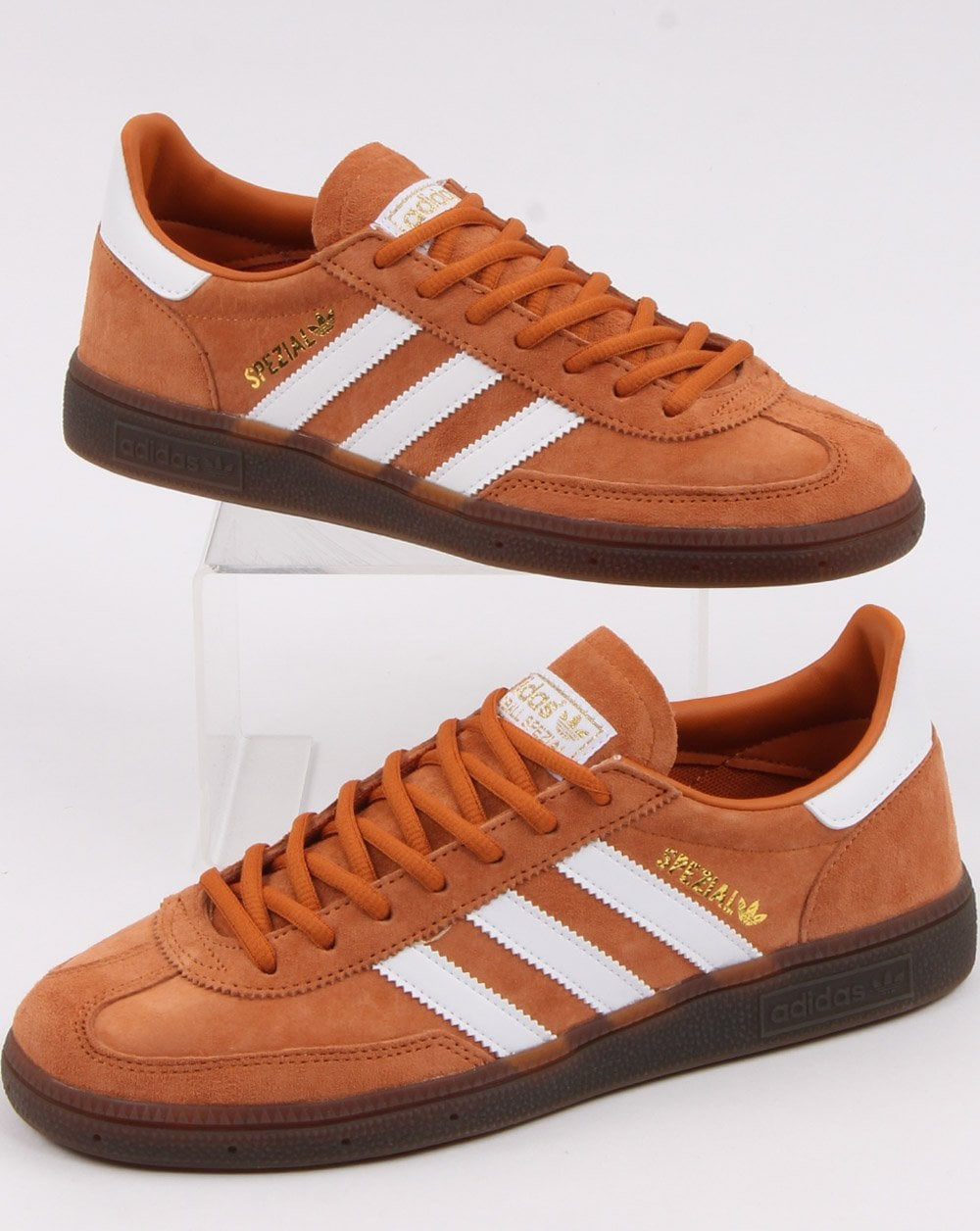 Adiós Es exagerar  Adidas Spezial Trainers Copper/White, Burnt Orange - Adidas At 80sCC