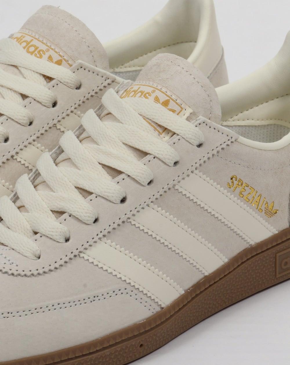 Adidas spezial formatori bianco / bianco, camoscio, Uomo