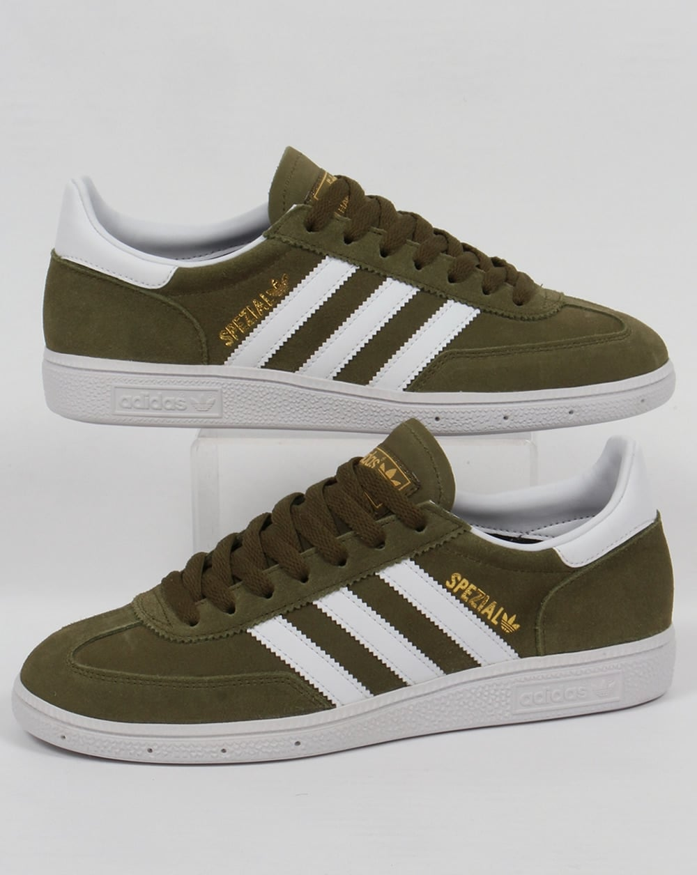 aa0222a8dbf7 adidas Trainers Adidas Spezial Trainers Dust Green white