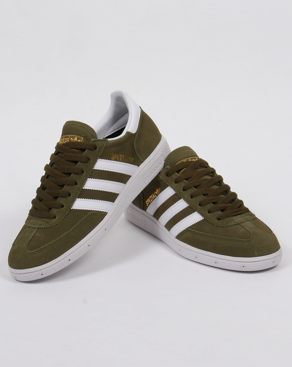 de49aebde57e Adidas Spezial Trainers Dust Green white