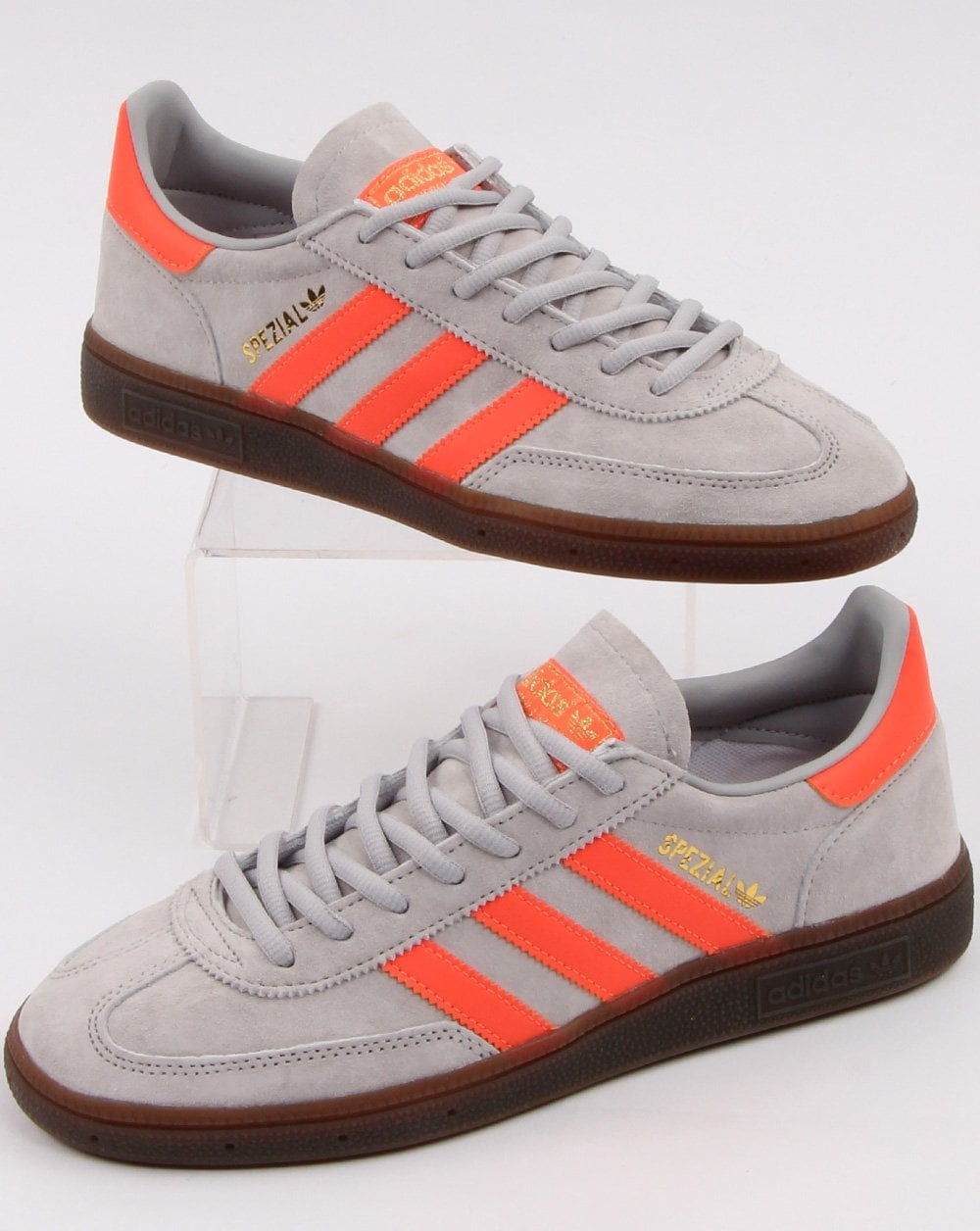 Obediencia Noble dueña  Adidas Spezial Trainers Grey, Coral, Orange - Shop Adidas At 80sCC