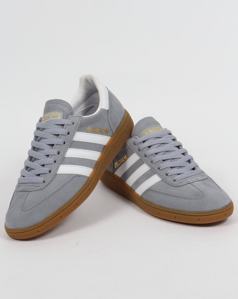 Adidas Spezial Trainers Light Grey/White