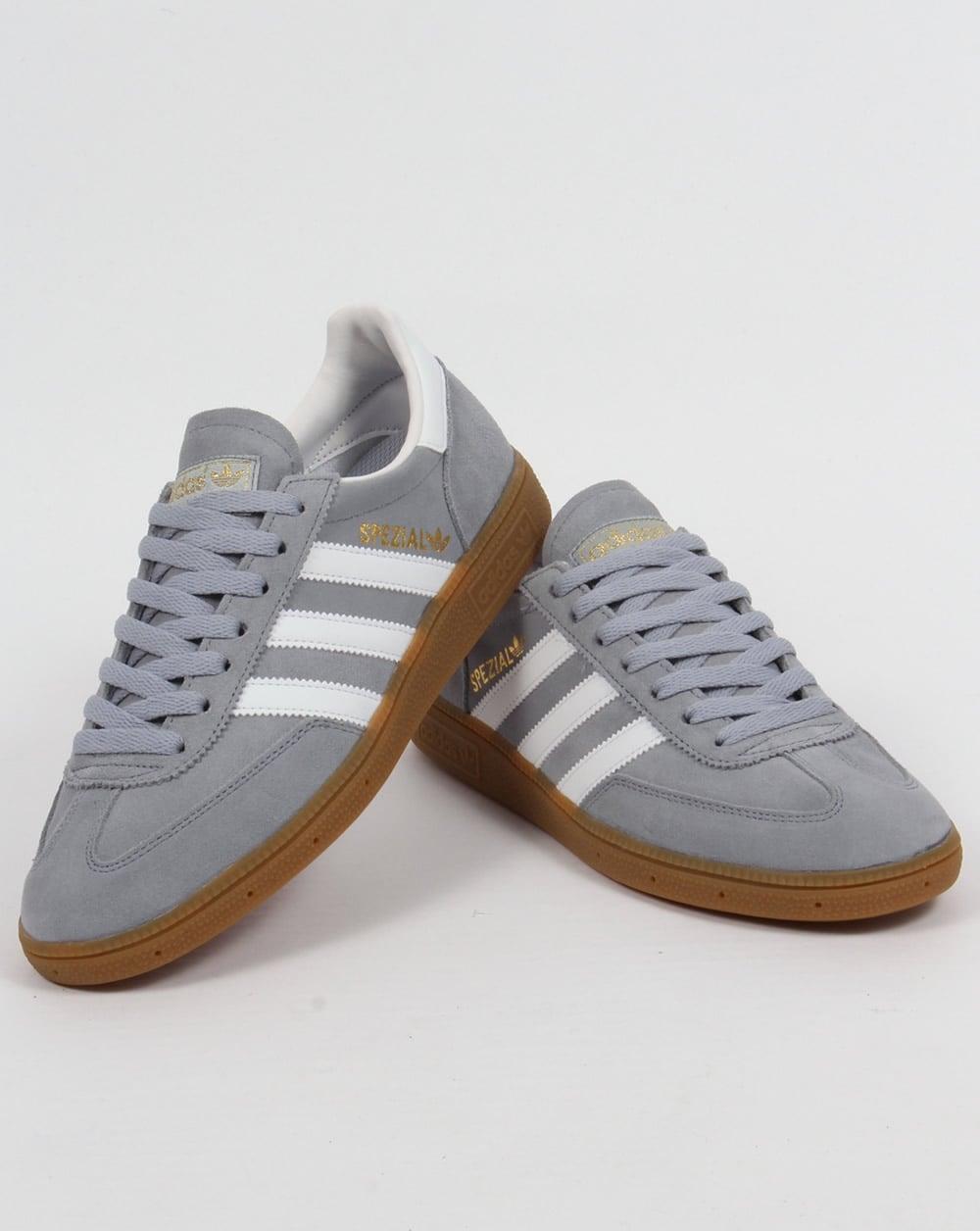 Adidas Spezial Trainers Light Grey/White