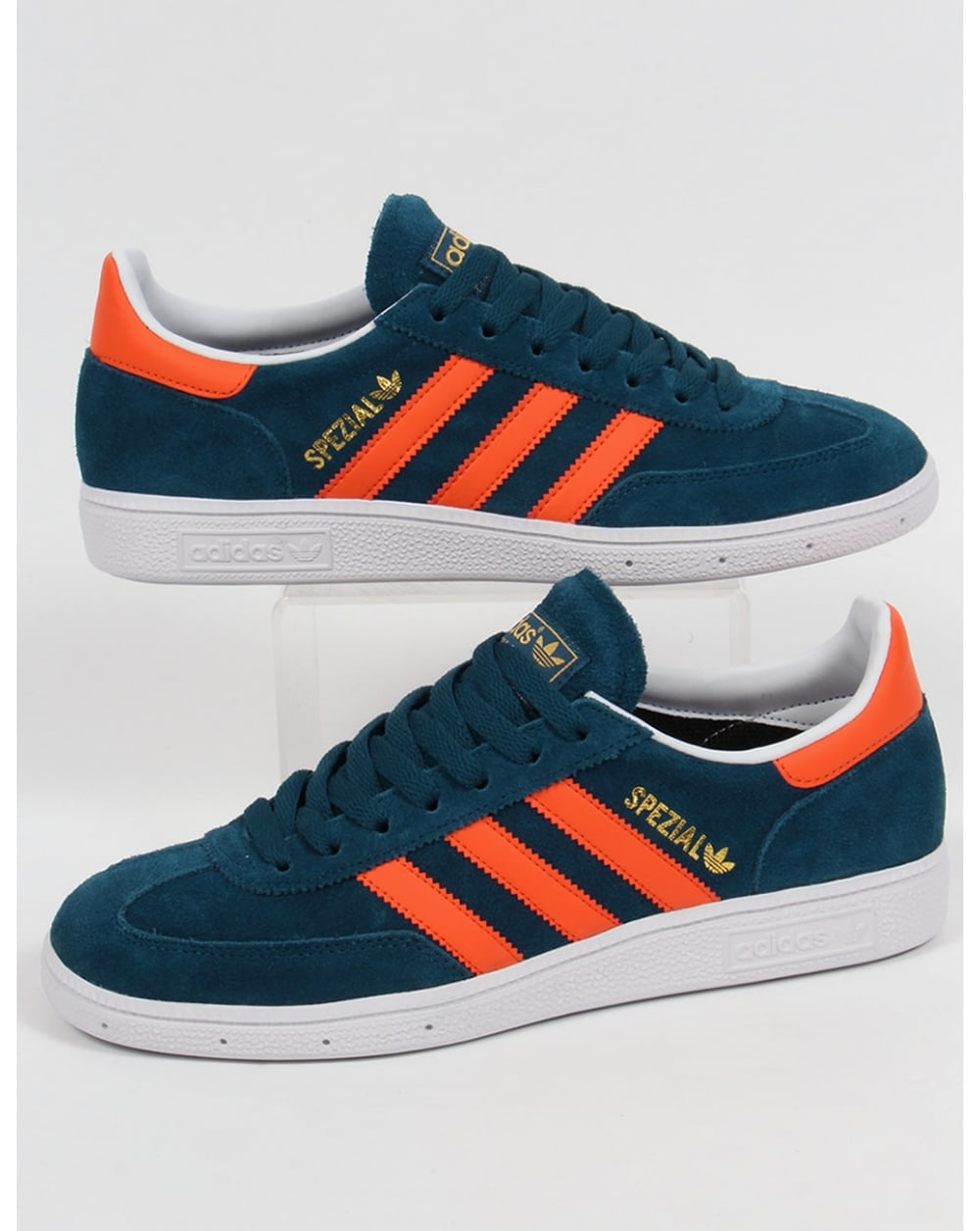 Peculiar Bañera neumonía  Adidas Spezial Trainers Mineral Blue/orange/white, Suede, Shoes