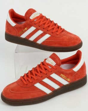 adidas Trainers Adidas Spezial Trainers Red Amber/White