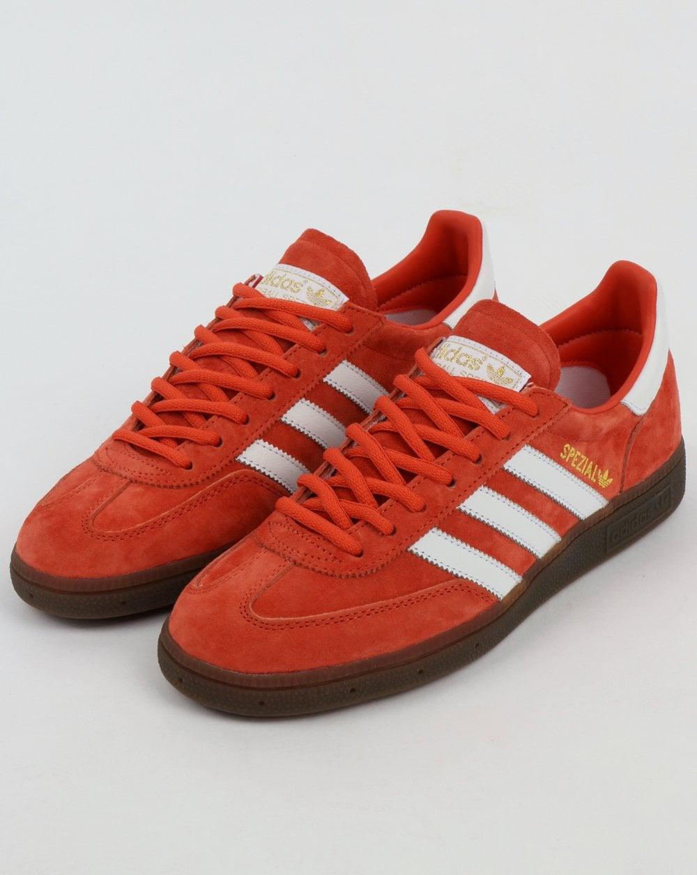 super popular c58a9 c1ebb Adidas Spezial Trainers Red AmberWhite
